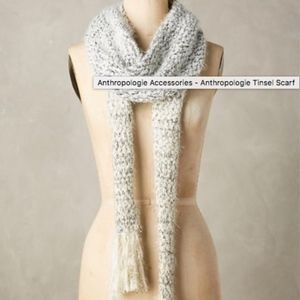 Anthropologie  Scarf Tinsel Knit Metallic Thread